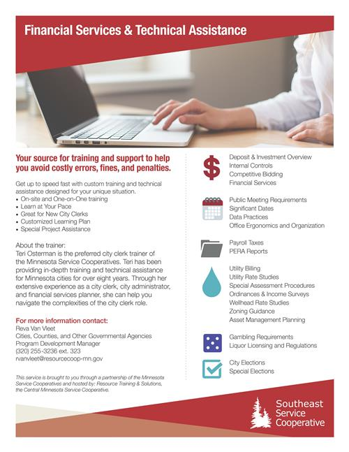 financial services flier image